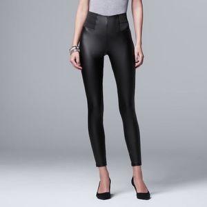 Vera Wang leather leggings